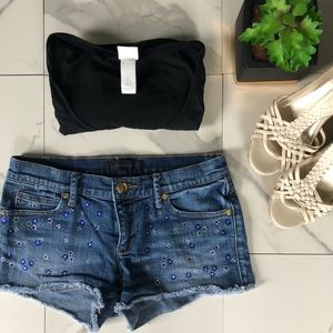 Juicy Couture Denim Rhinestone Shorts